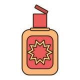 Cream sun blocker beach icon. Vector illustration eps 10 Royalty Free Stock Photo