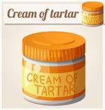 Cream of tartar. Detailed Vector Icon Stock Image
