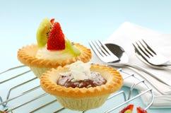 Cream Tarts Stock Images