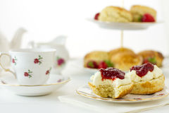 Cream tea scene Stock Photos