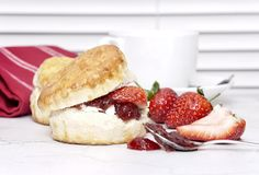 Cream Tea - scones with jam Stock Image