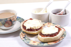 Cream tea. A traditional Cornish cream tea Stock Photo