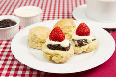Cream tea. A traditional Cornish cream tea Stock Images