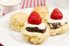 Cream tea. A traditional Cornish cream tea Stock Image