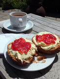 Cream Tea. A traditional devonshire cream tea Stock Image