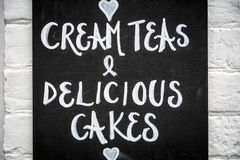 Cream teas Stock Images