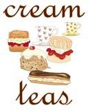 Cream teas Royalty Free Stock Images