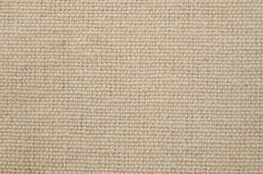 Cream texture canvas fabric Stock Photography