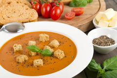 Cream of Tomato Soup Stock Photography