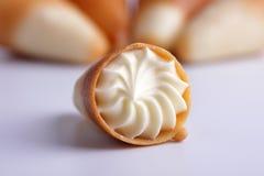 cream tubule сахара Стоковые Фото