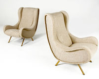Cream Upholstered Modern Style Chairs Royalty Free Stock Image