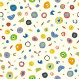 Cream pattern with colorful dots. royalty free illustration