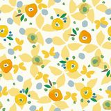 Cream pattern with butterfy colorful dots. stock illustration