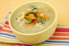 Cream vegetable soup Stock Photo
