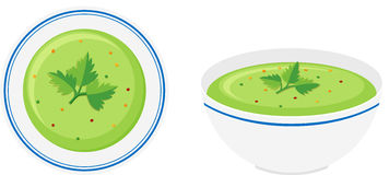 Cream vegetable soup in bowl Stock Photos