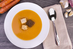 Cream of vegetable soup Stock Photos
