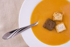 Cream of vegetable soup Royalty Free Stock Images