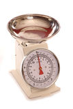 Cream vintage style cooking scales. Cutout Royalty Free Stock Images