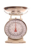 Cream vintage style cooking scales. Cutout Royalty Free Stock Photography
