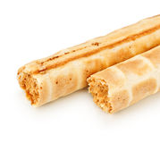 Cream Wafer Rolls Royalty Free Stock Images
