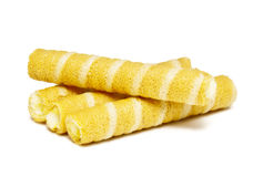 Cream Wafer Sticks Stock Images