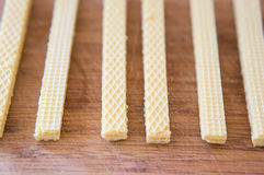 Cream wafers Royalty Free Stock Photography