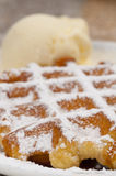 cream waffle сахара льда Стоковые Фотографии RF