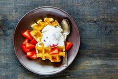 cream waffles льда Стоковые Фото