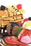 cream waffles льда Стоковое фото RF