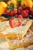 cream waffles льда Стоковая Фотография RF