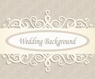 Cream wedding background Royalty Free Stock Photos