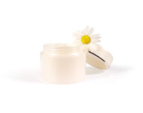 Cream With Chamomile Royalty Free Stock Image