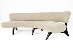 Cream Wool Modern Sofa. Kagan Cream Wool Modern Sofa isolated on white Royalty Free Stock Photos