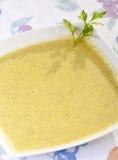 Cream of zucchini. Delicious fresh zucchini cream with fresh cream Stock Photos