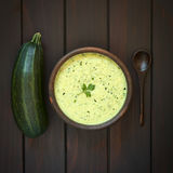 Cream of Zucchini Soup Royalty Free Stock Photo