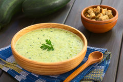 Cream of Zucchini Soup Stock Images