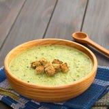 Cream of Zucchini Soup Stock Photo