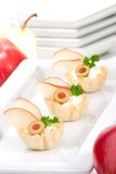 creamcheese αχλάδι καναπεδακιών Στοκ φωτογραφίες με δικαίωμα ελεύθερης χρήσης