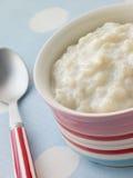 creamed шаром рис пудинга стоковые изображения