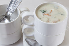 Creamed Chicken and Gnocchi Soup Royalty Free Stock Photo
