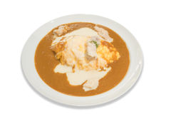 Creamed chicken omelet curry Royalty Free Stock Images