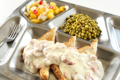 Creamed Chipped Beef on Toast stock images