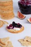 Creamed cracker Stock Image
