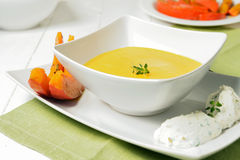 Creamed pumpkin soup Royalty Free Stock Photo