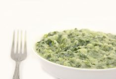 Creamed spinach Royalty Free Stock Photography