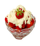 Creamed strawberry top Royalty Free Stock Photography