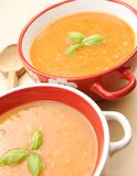 Creamed tomato soup Royalty Free Stock Image