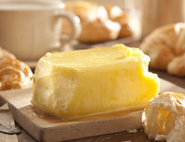 Butter with croissants Stock Image