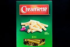 Creamette Ziti Pasta Container and Trademark Logo royalty free stock image