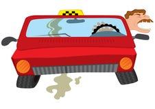 Creaming водителя такси человека шаржа Стоковое Изображение